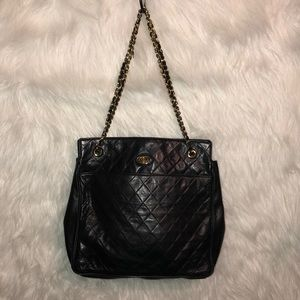 Vintage Gino Ferruzzi Black Leather Bag